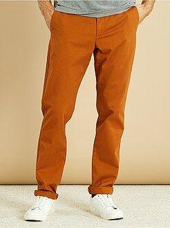 Homme du S au XXL - Pantalon chino regular twill pur coton - Kiabi