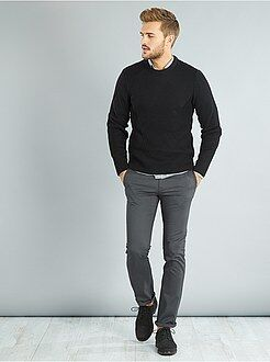 Homme du S au XXL Pantalon chino regular twill stretch