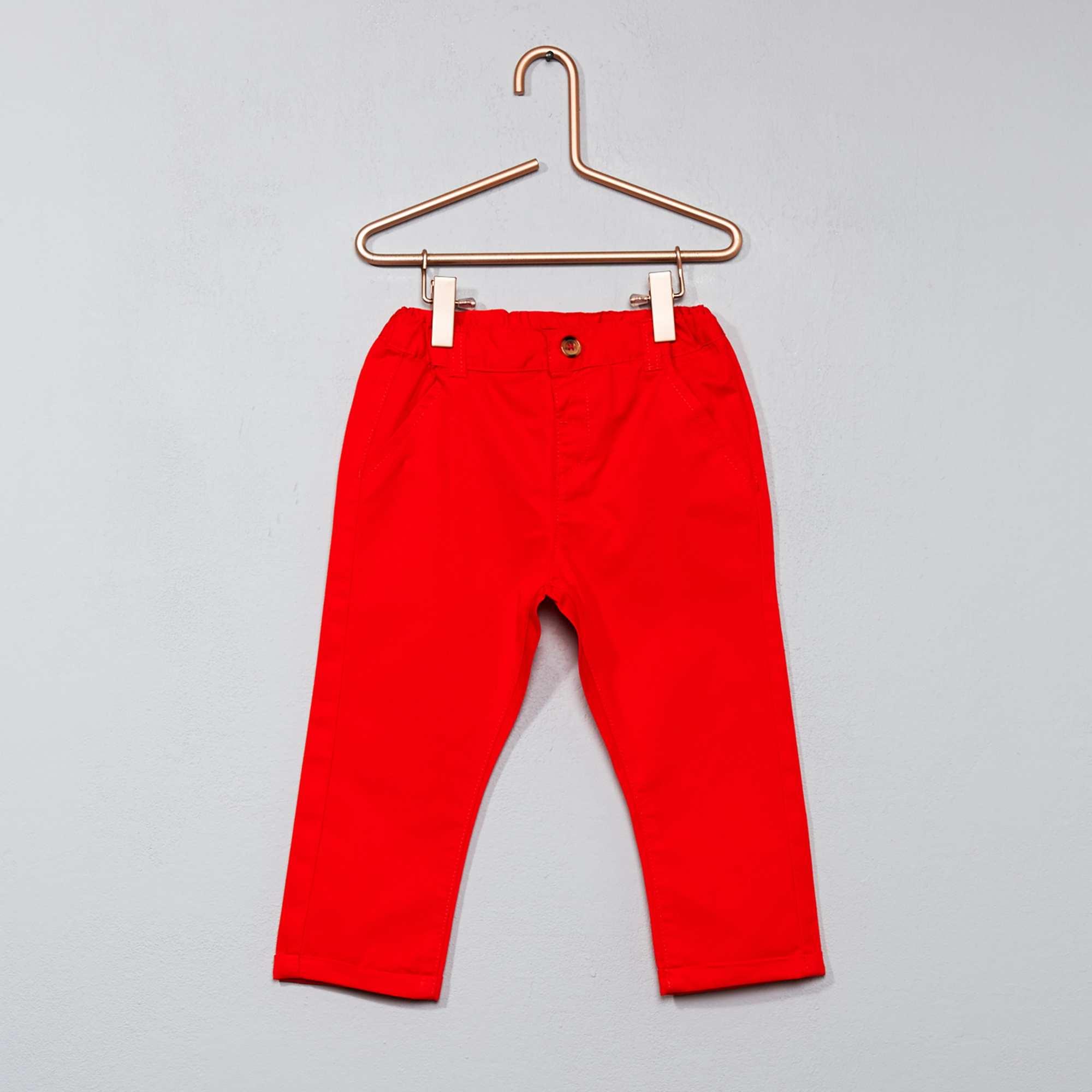 pantalon chino b b gar on rouge orang kiabi 7 00. Black Bedroom Furniture Sets. Home Design Ideas