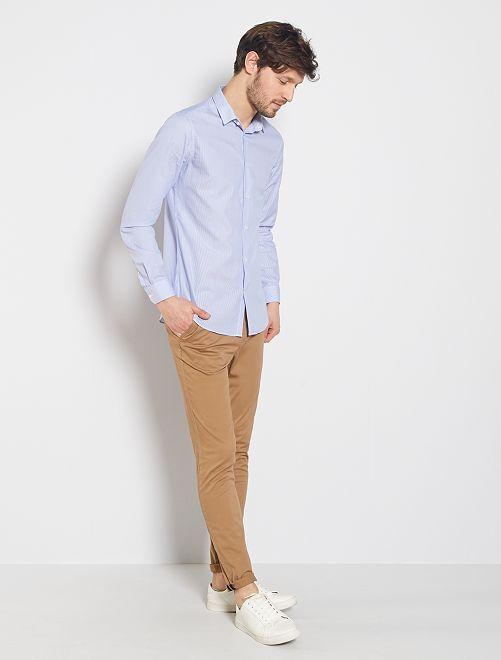 Pantalon chino skinny                                                                 beige