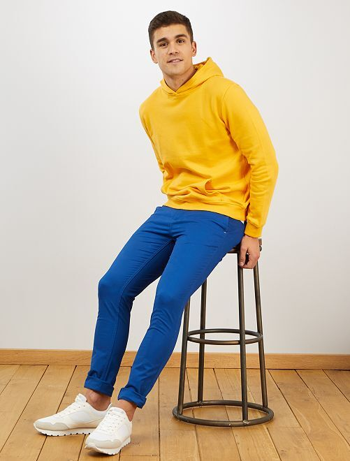 Pantalon chino skinny                                                         bleu