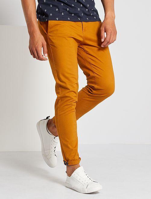 Pantalon chino skinny                                         camel