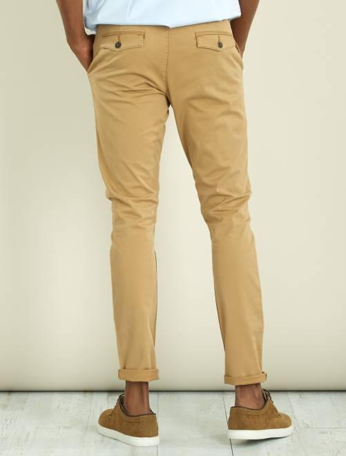 pantalon chino skinny en twill homme beige kiabi 20 00. Black Bedroom Furniture Sets. Home Design Ideas