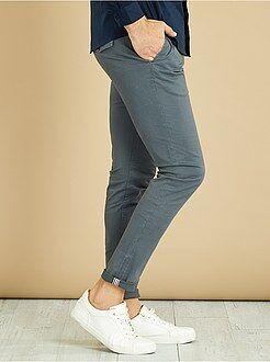 Pantalon chino skinny en twill - Kiabi