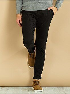 Pantalon - Pantalon chino skinny en twill - Kiabi