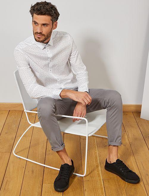 Pantalon chino skinny                                                                                                     gris clair