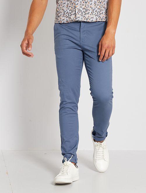 Pantalon chino skinny L34                                         bleu