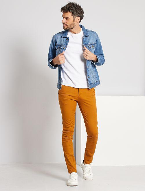 Pantalon chino skinny L34                                         jaune ocre