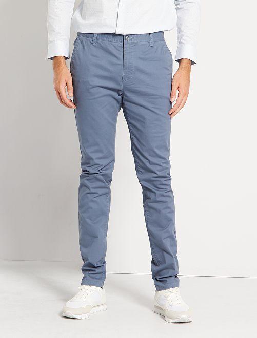 Pantalon chino skinny L38 +1m95                                                                 bleu gris