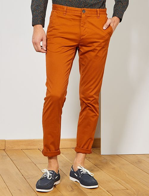 Pantalon chino skinny                                                                                                     ocre