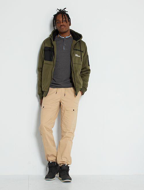 Pantalon chino slim                                                                 beige