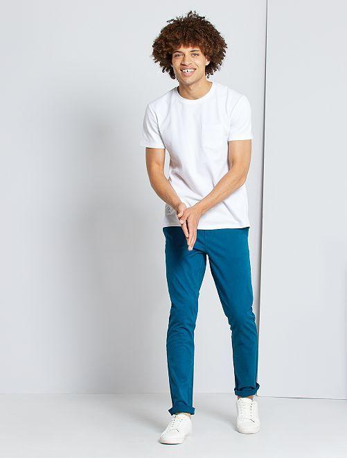 Pantalon chino slim                                                                                                                                                                                                                                                                                                                                                                                                                                                                 bleu canard