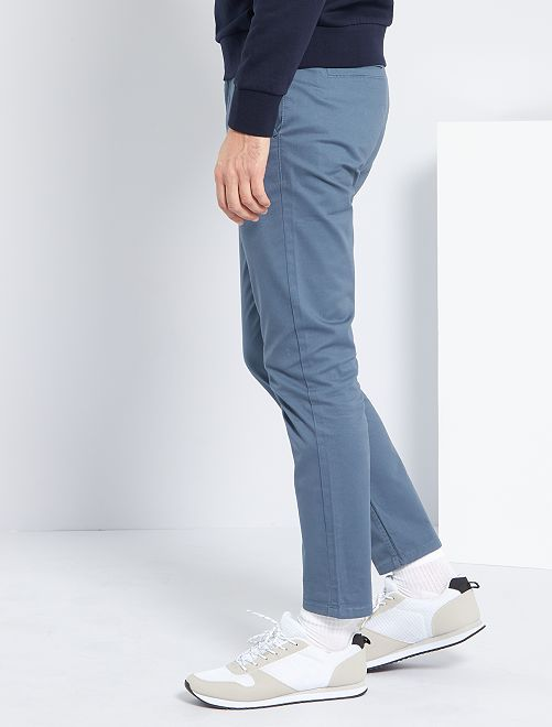 Pantalon chino slim                                                                                                                                                                                         bleu gris