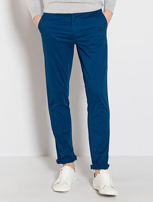 Pantalon chino slim                                                                                                                                                                                                                                                                                                                                                                 bleu pétrole