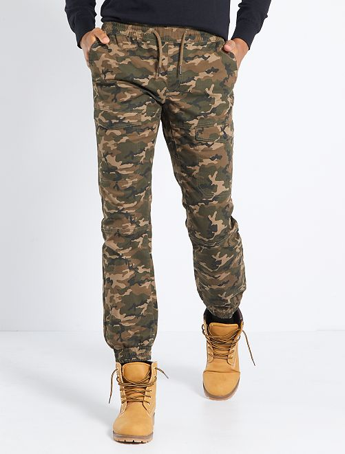 Pantalon chino slim                                                                 camouflage