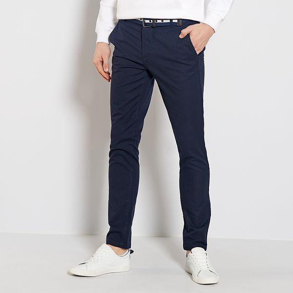 pantalon homme bleu