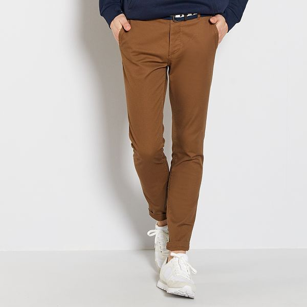 pantalon homme marron