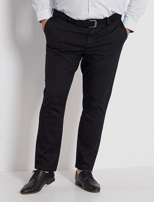 Pantalon chino slim + ceinture                                         noir