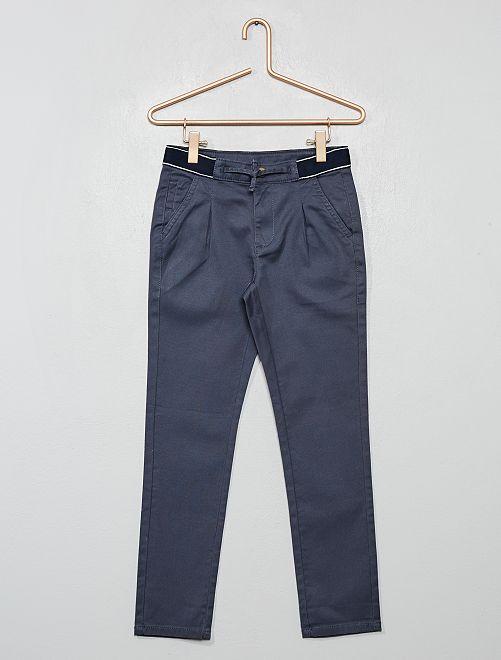Pantalon chino slim ceinture sport                                         anthracite