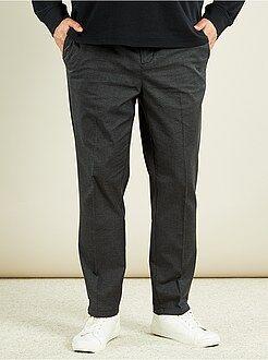 Grande taille homme Pantalon chino slim en chambray