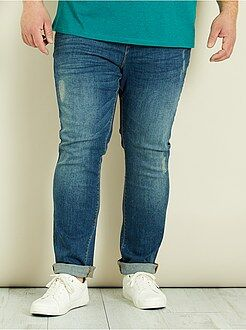 Pantalon casual - Pantalon chino slim en denim - Kiabi