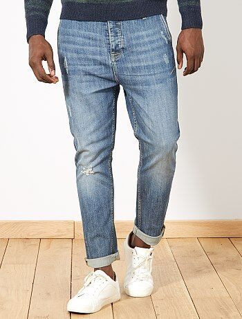 Pantalon chino slim en denim - Kiabi