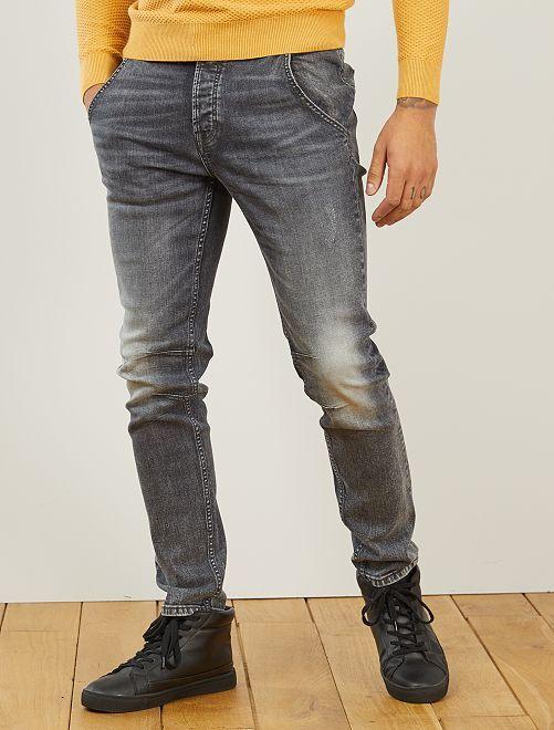 Pantalon chino slim en jean L32                                         gris
