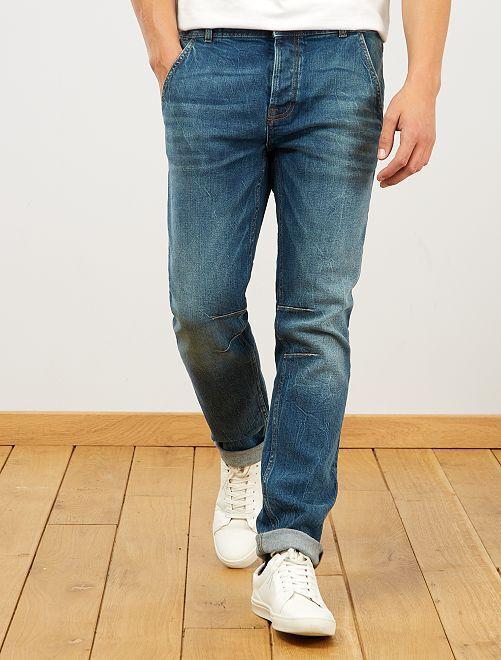 Pantalon chino slim en jean L32                                         stone