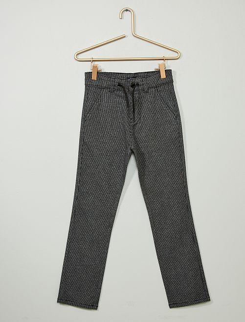 Pantalon chino slim                                                     gris poule Garçon