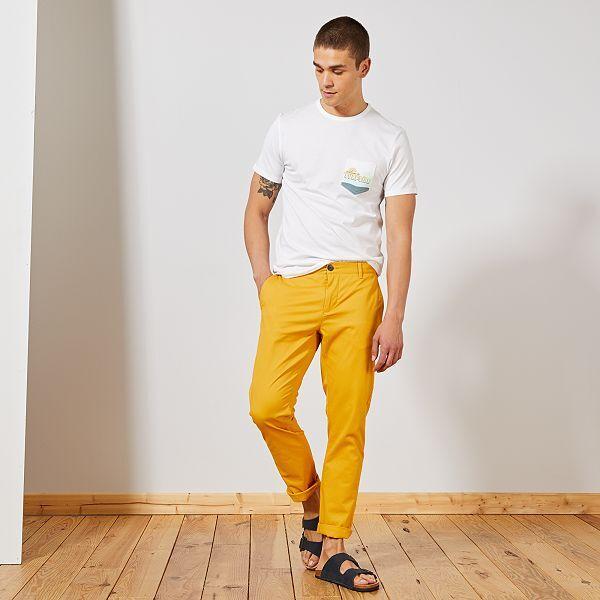 pantalon homme jaune