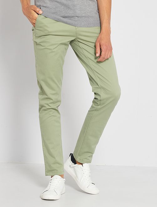 Pantalon chino slim                                                                                                                                                                                                                                                                                                                                                                                                     kaki clair