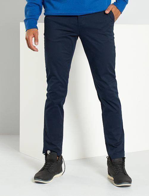 Pantalon chino slim L30                                                                                         bleu marine