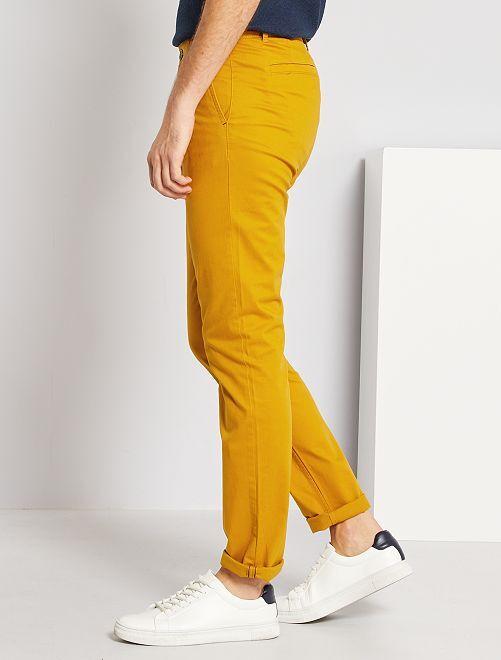 Pantalon chino slim L30                                                                 jaune