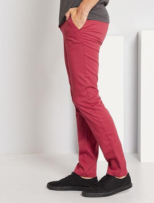 Pantalon chino slim L30                                                                                         rouge grenat