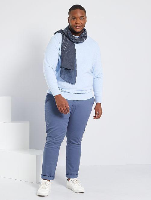 Pantalon chino slim L34                                                                                                                 bleu gris