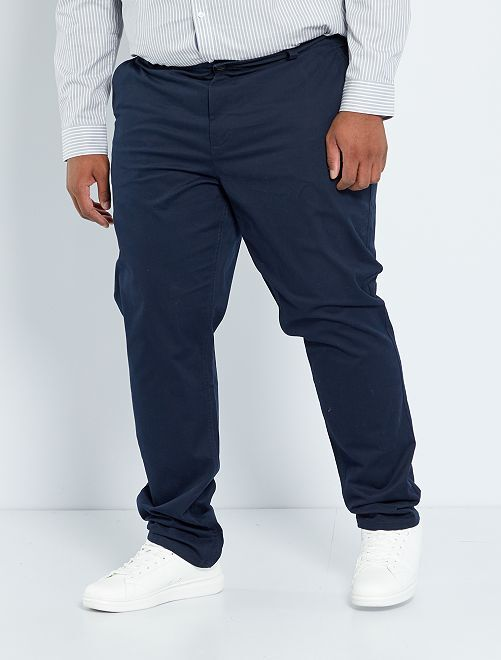 Pantalon chino slim L34                                                                                         bleu marine