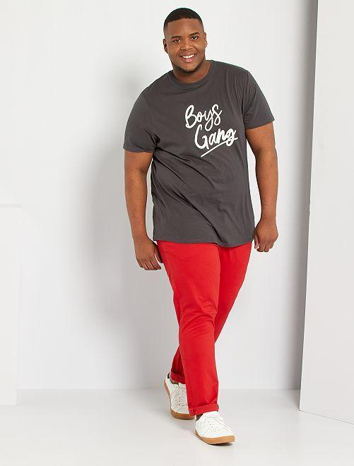 Pantalon chino slim L34                                                                                         rouge