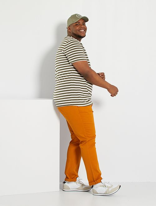 Pantalon chino slim L34                                                                                         rouille