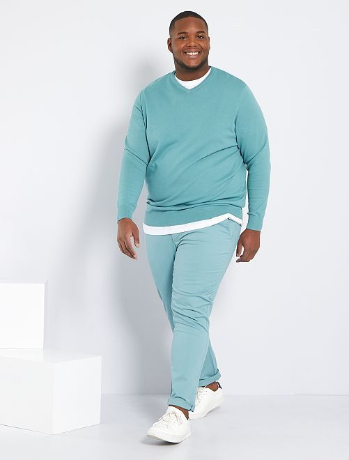 Pantalon chino slim L34                                                                                         vert pâle