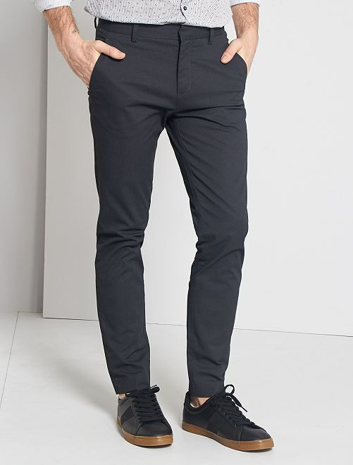 Pantalon chino slim                     noir