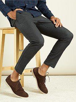 Homme du S au XXL Pantalon chino slim pur coton