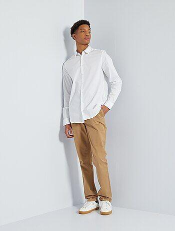 Pantalon chino slim pur coton L36 1m90