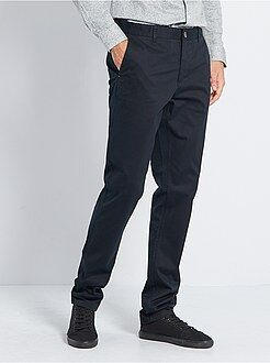 Pantalon casual - Pantalon chino slim pur coton L38 +1m90
