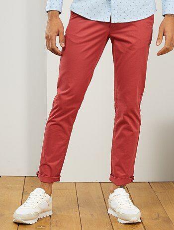 Pantalon chino Vêtements homme   rose   Kiabi
