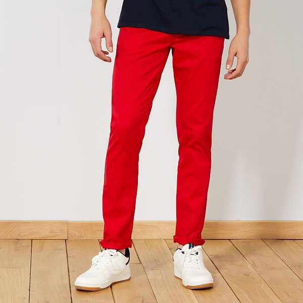 pantalon homme rouge