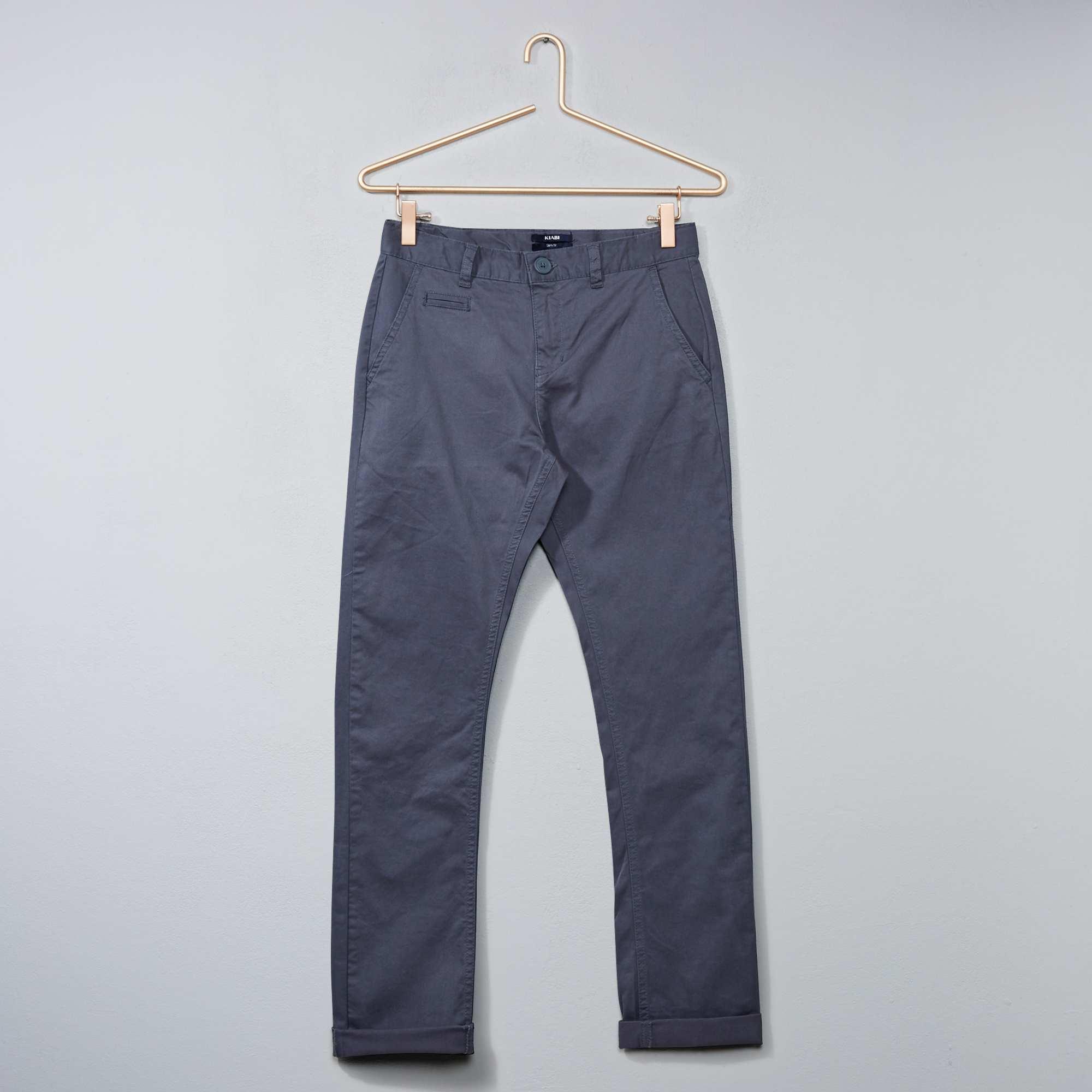 pantalon chino slim stretch gar on adolescent kiabi 13 00. Black Bedroom Furniture Sets. Home Design Ideas