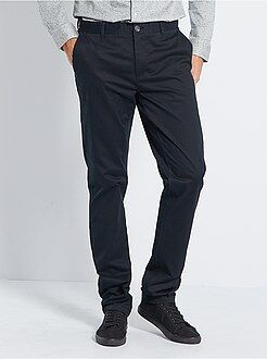 Pantalon - Pantalon chino slim stretch L36 +1m90 - Kiabi
