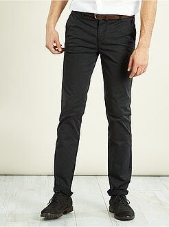 Homme du S au XXL Pantalon chino slim stretch longueur US 32