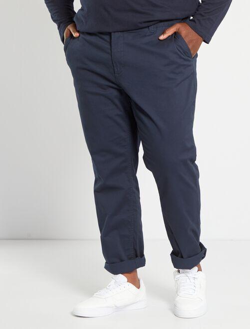 Pantalon chino slim twill stretch                                                                                                                             bleu marine