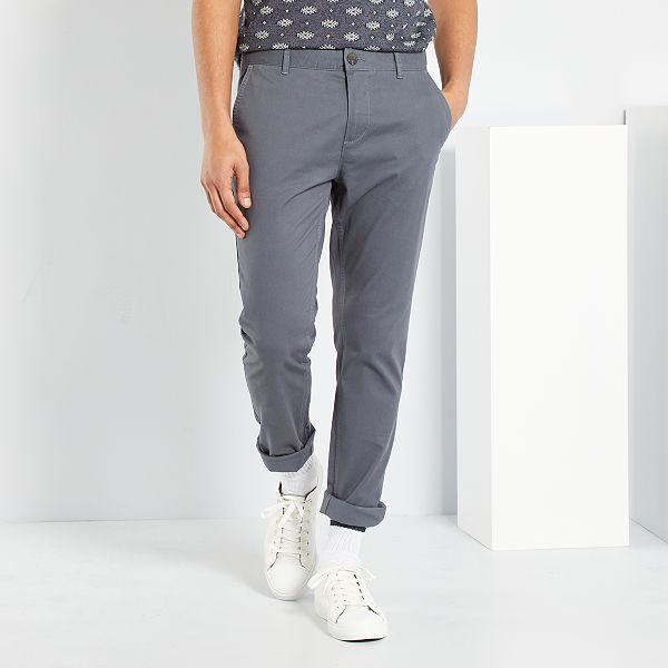 choisir officiel éclatant produit chaud Pantalon chino slim twill stretch